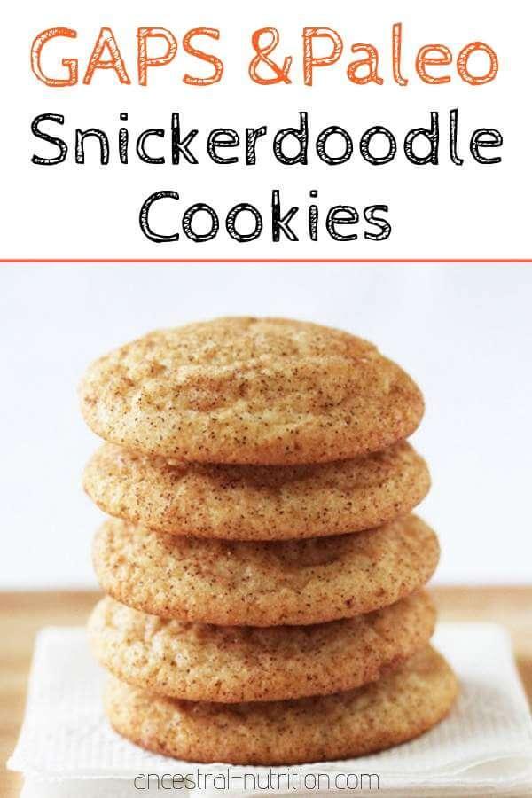 Snickerdoodle Cookies (Paleo, Primal, Grain and Gluten-Free) - omit cinnamon to make sugar cookies! #paleo, #glutenfree