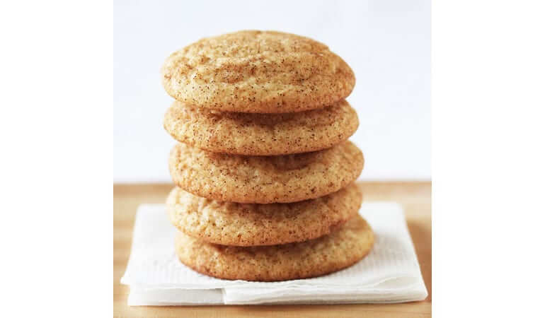 Paleo Snickerdoodle Cookies stacked