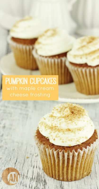 Try these healthy paleo pumpkin cupcakes with maple cream cheese frosting! Fall doesn't really start for me until I make these! So good!