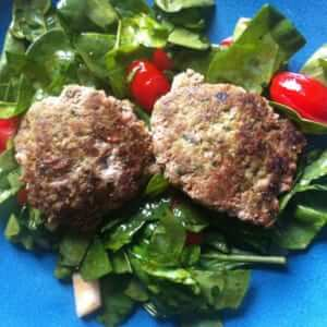 Spicy Jalapeno Spinach Burger