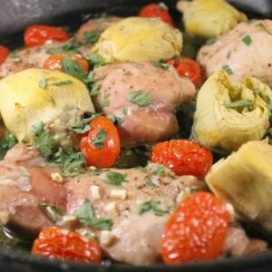 Paleo Tomato Artichoke Chicken
