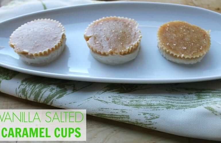 I like chocolate, but I LOVE caramel, especially when it's paired with vanilla! These vanilla salted caramel cups are divine!