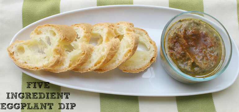 I love dips! I even love having a 'dip' dinner. And this five ingredient eggplant dip is one that makes it to the table every time!