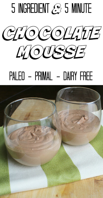 Five Ingredient & Five Minute Chocolate Mousse! This was the easiest dessert to make and is seriously fool proof. Anybody can throw this together and it will come out perfectly.