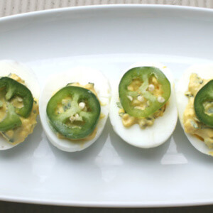 Cilantro Jalapeno Deviled Eggs