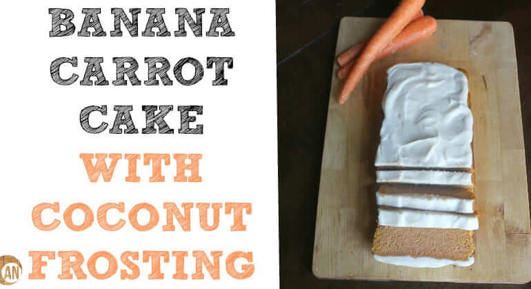 Now THIS is a truly healthy version of a carrot cake! And the coconut frosting just takes it to the next level!