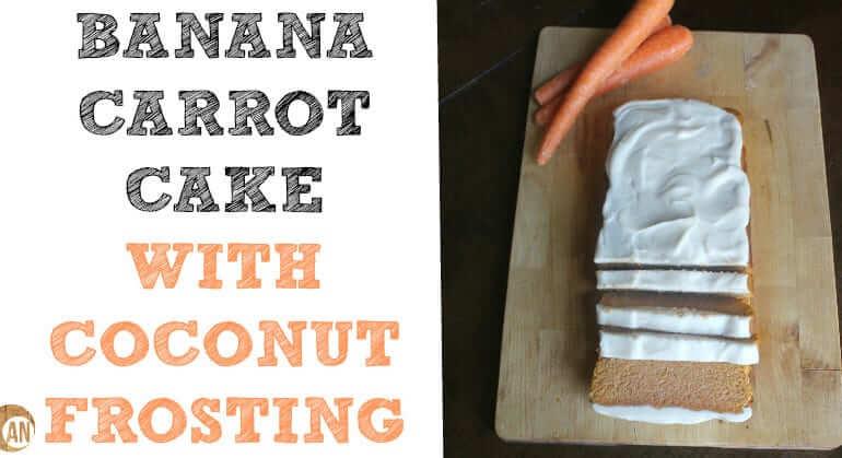 healthy banana carrot cake