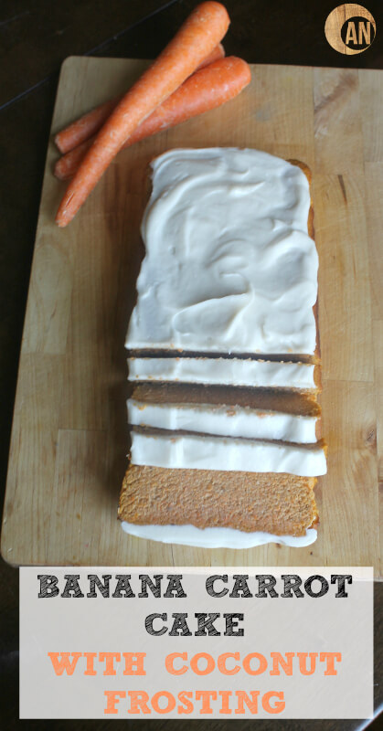 Banana Carrot Cake with Coconut Frosting - Ancestral Nutrition