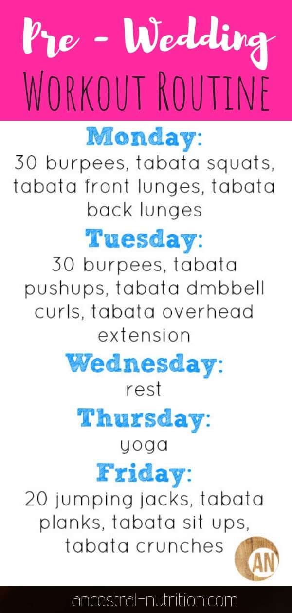 Wedding Workout Routine - get into the shape of your life for the big day with my healthy diet and easy workout tips #bride, #workout