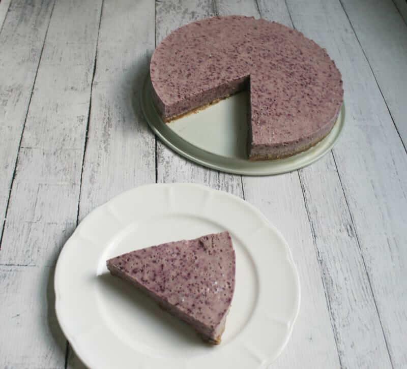 No Bake Paleo Blueberry Cheesecake! Seriously so good and so easy!!
