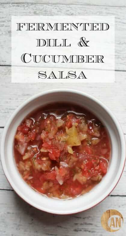 Check out this recipe for fermented dill & cucumber salsa! It's so easy to make and is delicious on top of smoked salmon, eggs, salad, fish, chicken, etc. It's like a European version of salsa. And it's awesome.