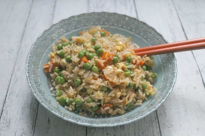 What do you do when you don't want to cook but you don't want to eat gross takeout? You make this recipe for gluten-free fried rice!