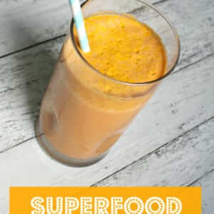 Superfood Carrot Cake Smoothie in a glass