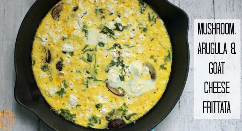 mushroom arugula frittata #paleorecipes #breakfastrecipes