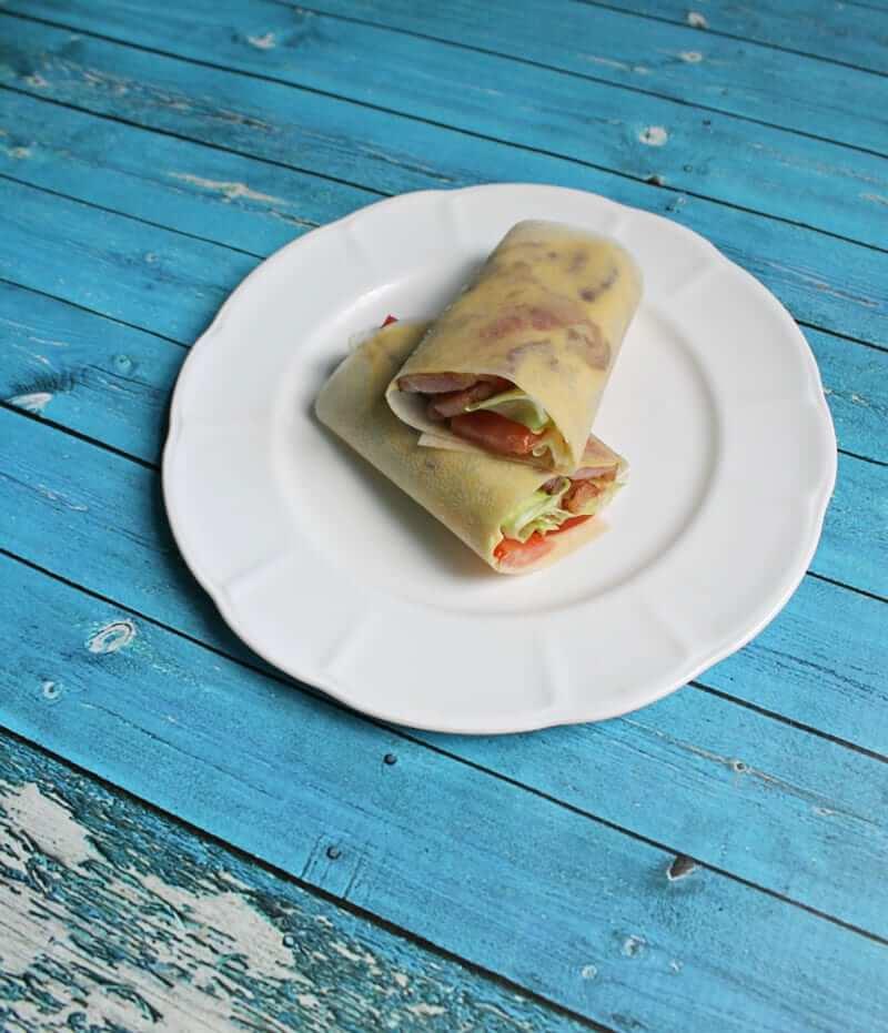 Paleo BLT Wraps on a plate