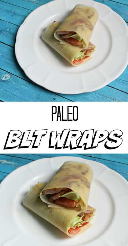 Paleo BLT Wraps - one of the easiest, healthiest and tastiest lunch/snack recipes you'll ever try!