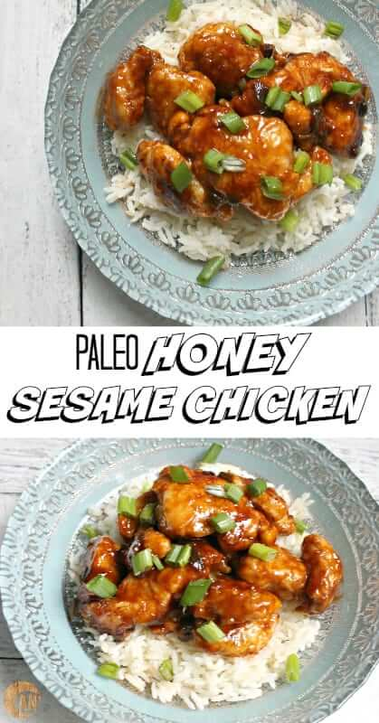 Paleo Honey Sesame Chicken - the perfect easy Chinese