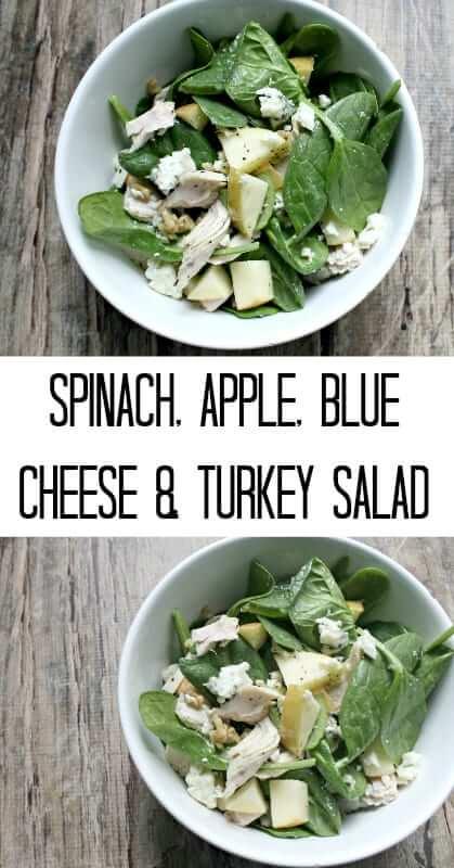 Spinach-Apple-Blue-Cheese-Turkey-Salad
