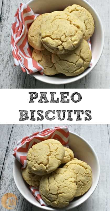 Paleo Biscuits - perfect for breakfast, as a dinner roll or as a quick snack with butter and jam or turkey and veggies!