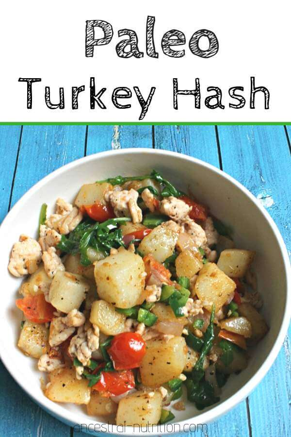Paleo Turkey Hash - an easy protein-rich breakfast or dinner recipe that is gluten-free and paleo. Filling and healthy! #glutenfree, #paleo