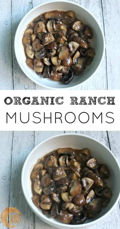 These easy Organic Paleo Ranch Mushrooms are the best side for steaks and chicken! Low-carb and so easy to make, you'll laugh! #paleo #side