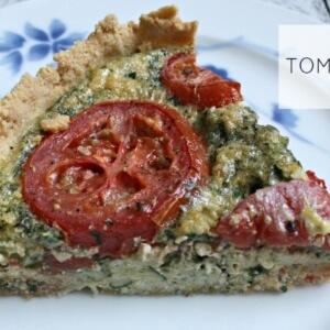 Paleo tomato and herb quiche