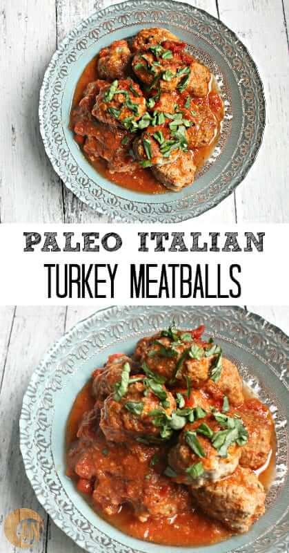 Paleo Italian Turkey Meatballs - these delicious, gluten-free meatballs are seriously healthy and taste amazing! Check out the recipe to make a quick, nutritious dinner!