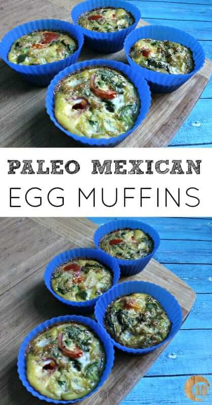 Paleo Mexican Egg Muffins| these easy muffins are perfect to make on Sunday and have breakfast or a snack throughout the week #paleo #breakfast