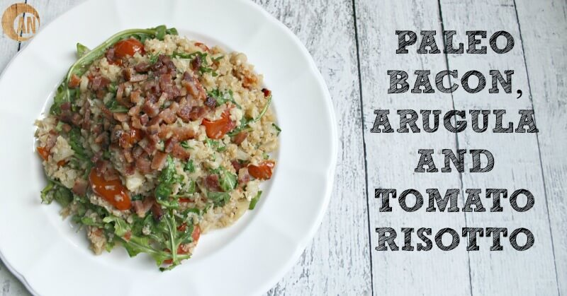 paleo bacon arugula risotto