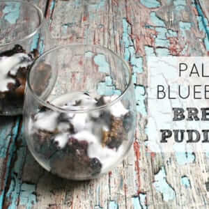 paleo blueberry bread pudding