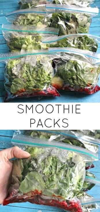 Smoothie Packs - make 12 smoothies in 20 minutes that are low-sugar, paleo and-super healthy!