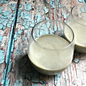 Matcha Latte in a glass