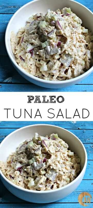 Making your own tuna salad is cheaper and infinitely healthier. And in my opinion (aka the correct opinion), my recipe for paleo tuna salad tastes better. #paleo #tunasalad
