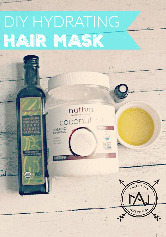 DIY Hydrating Hair Mask - try this homemade deep conditioning hair mask and say goodbye to dry and damages hair with split ends! This natural hair mask is made with olive oil, coconut oil and essential oils - so easy and cheap to make and store and so much better and more effective than anything from the drugstore! #homemade #naturalbeauty #haircare #diy #hairmask