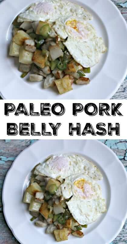 Paleo Pork Belly Hash | Take your breakfast game to the next level by making this simple yet delicious Paleo Pork Belly Hash! Included: My tip for the crispiest potatoes! #paleorecipes, #breakfastrecipes