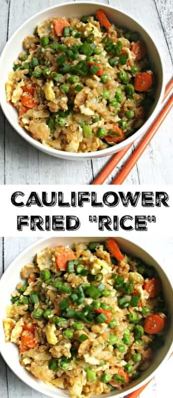 Cauliflower Fried Rice - an easy paleo meal that's great for dinner, lunch or leftovers!