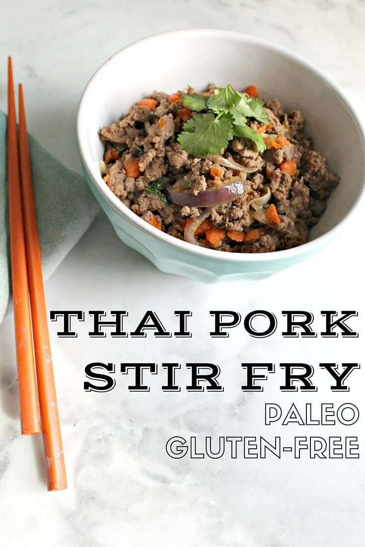 Thai Pork Stir Fry - this paleo and gluten-free recipe is easy to make, healthy, great for lunch or dinner and incredibly delicious!