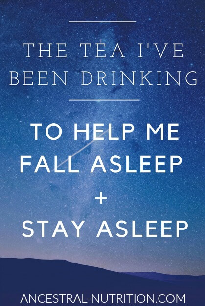 Find out which herbal tea remedy is great for sleep + insomnia, it'sthe tea I've been drinking to help me fall asleep and stay asleep!