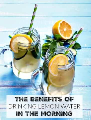 The Benefits of Drinking Lemon Water In the Morning - helps clear skin, detoxify the liver, boost the metabolism and improve digestion!