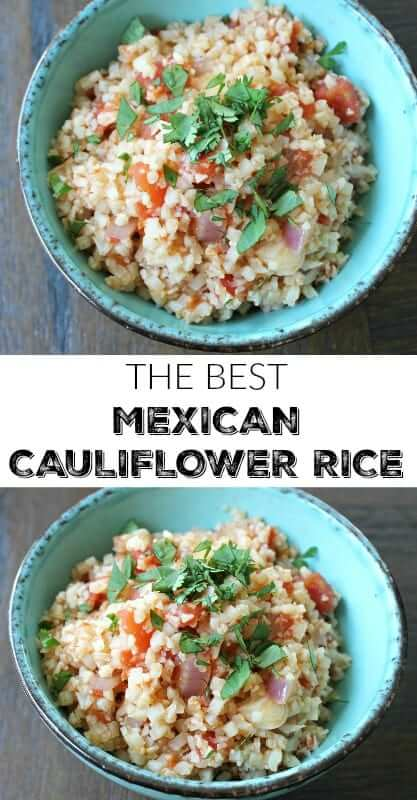 The Best Mexican Cauliflower Rice - paleo, gluten-free, healthy, easy and even vegan!