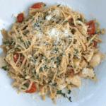 Caprese Shrimp Lentil Pasta