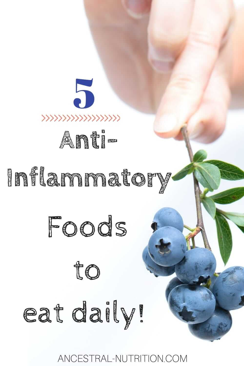 5 Anti-Inflammatory Foods to eat daily | Eat these 5 listed foods to fight inflammation and prevent/reduce symptoms of chronic conditions like arthritis or autoimmune diseases #arthritis, #inflammation, #healthyliving, #greenliving, #holistichealth