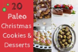 20 Easy Paleo Christmas Cookies and Desserts