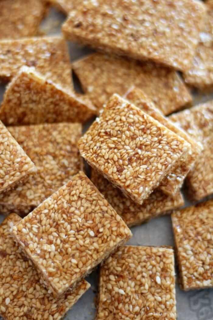 Paleo Sesame Crunch Candy