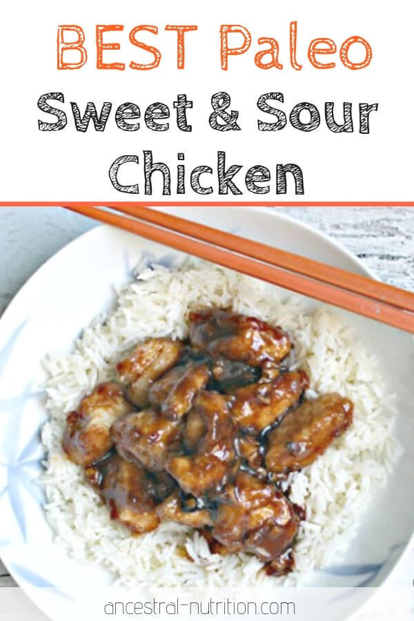 Best Paleo Sweet and Sour Chicken | the best healthy restaurant-style Chinese chicken in a divine sticky sauce - all without MSG, high fructose corn syrup, vegetable oils or GMOs! #paleorecipes #chicken