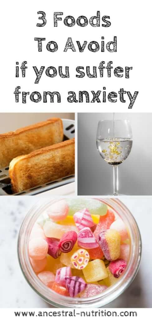 3 Top Foods you need to avoid if you suffer from anxiety | Learn how eating a healthy Anti-Anxiety diet and cutting out these three foods entirely can help reduce anxiety naturally.  #anxiety #healthydiet