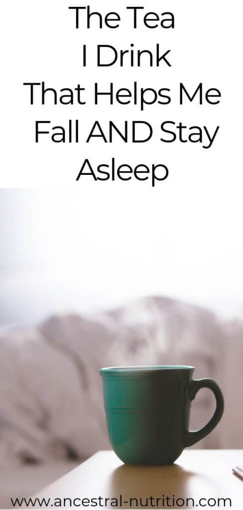 The tea I Drink that makes me fall asleep and stay asleep. Trust me, this all natural tea is the best ever natural insomnia remedy! Plus it's cheap #insomnia #remedies #sleep #health
