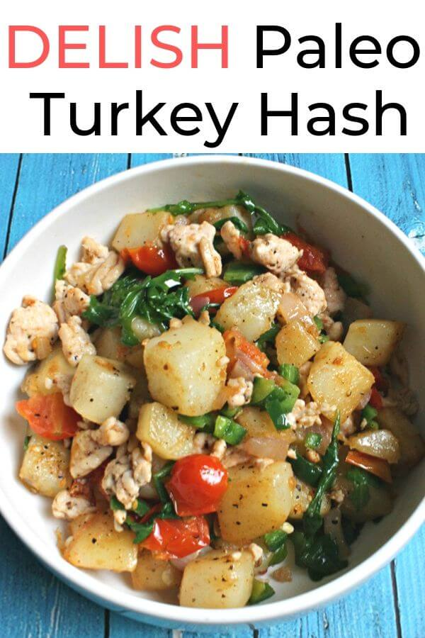 Paleo Turkey Hash - an easy protein-rich breakfast or dinner recipe that is gluten-free and paleo. Filling and healthy! #glutenfree, #paleo #breakfast #brunch