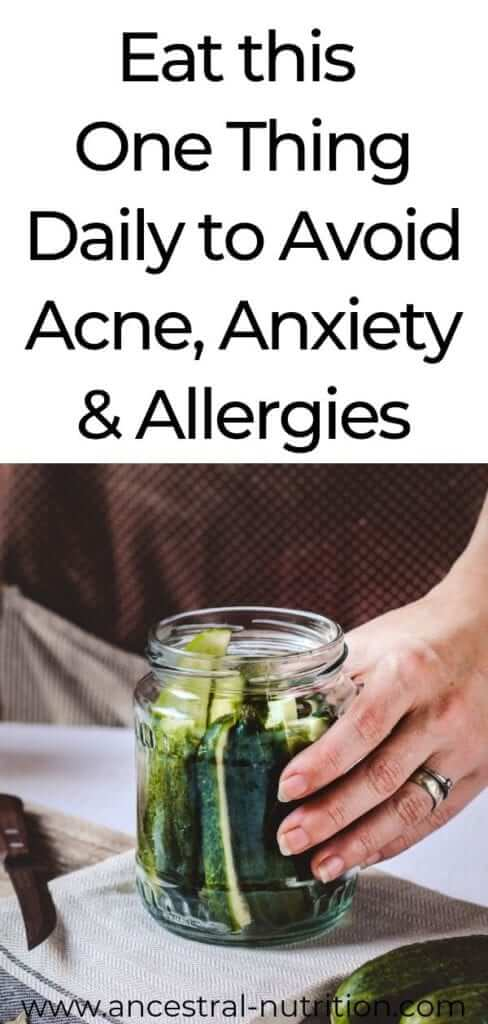Eat this one food daily to improve acne, anxiety and allergies! This food also helps heal the gut and boost the immune system! #anxiety #remedies #acne #skincare