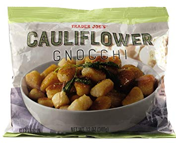 a bag of Trader Joe's frozen cauliflower gnocchi